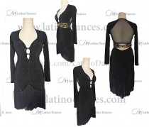 LATIN RHYTHM DRESS WITH HIGH-QUALITY STONES M669