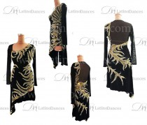 LATIN RHYTHM DRESS WITH HIGH-QUALITY STONES M637B