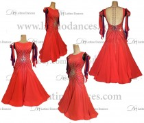 STANDARD / SMOOTH/ BALLROOM DRESS WITH HIGH QUALITY ST351