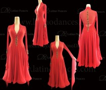 STANDARD / SMOOTH/ BALLROOM DRESS WITH HIGH QUALITY ST348