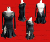 LATIN RHYTHM DRESS WITH HIGH-QUALITY STONES M643
