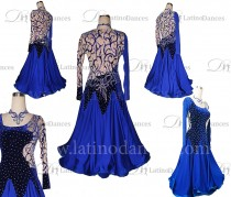 STANDARD/SMOOTH BALLROOM DRESS WITH HIGH QUALITY ST326