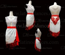 LATIN RHYTHM DRESS WITH HIGH-QUALITY STONES M657