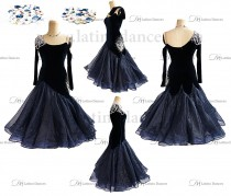 BALLROOM / STANDARD DRESS WITH HIGH QUALITY STONES. ST333