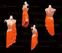 LATIN RHYTHM DRESS WITH HIGH-QUALITY STONES M655