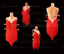 LATIN RHYTHM DRESS WITH HIGH-QUALITY STONES M649