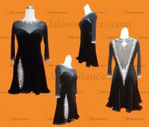 LATIN RHYTHM DRESS WITH HIGH-QUALITY STONES M656