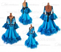 BALLROOM / STANDARD DRESS WITH HIGH QUALITY STONES ST317