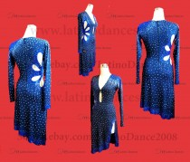 LATIN DANCE TAILORED DRESS WITH HIGH QUALITY STONES M611