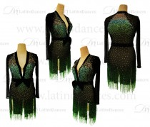 LATIN DANCE TAILORED DRESS WITH HIGH QUALITY STONES M609