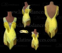 LATIN RHYTHM COMPETITION DRESS HIGH QUALITY STONES M619