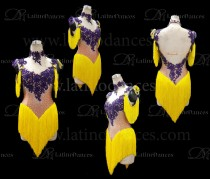 LATINO DANCE DRESS COMPETITION WITH HIGH QUALITY STONE M675