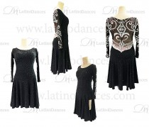 LATIN DANCE DRESS WITH HIGH QUALITY STONES M631