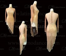 LATIN RHYTHM DRESS WITH HIGH-QUALITY STONES M646