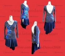 LATIN DANCE TAILORED DRESS WITH HIGH QUALITY STONES M137B