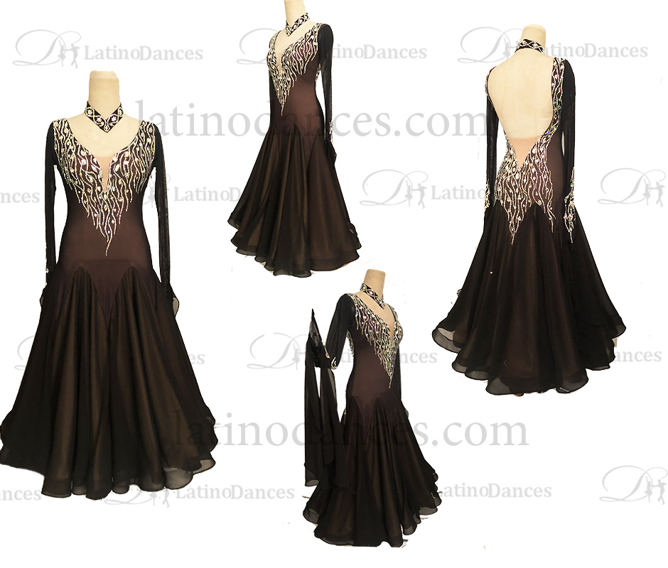 BALLROOM / STANDARD/ SMOOTH WALTZ TANGO DANCE-WEAR ST371