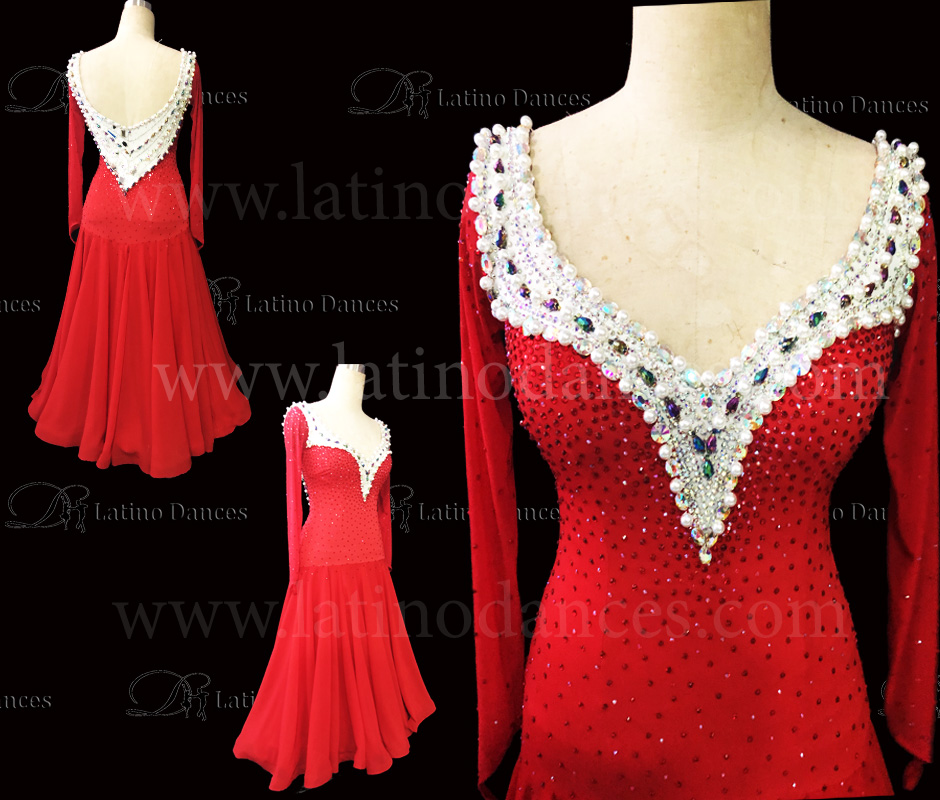 BALLROOM / STANDARD DRESS WITH HIGH QUALITY STONES. ST331